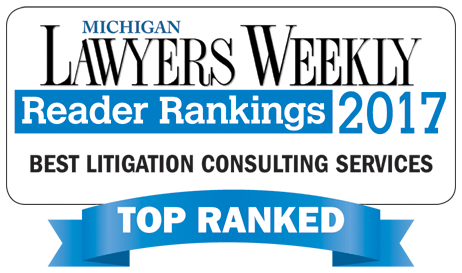 O'Keefe Named Best Litigation Consulting Services in Michigan Lawyers Weekly Readers Ranking