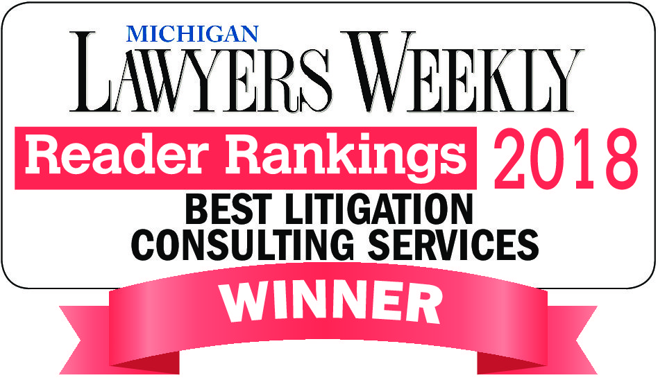 O'Keefe Named Best Litigation Consulting Services in Michigan Lawyers Weekly Readers Ranking 2nd Year in a Row